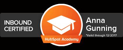 Anna-Gunning-HubSpot-Inbound-Certification