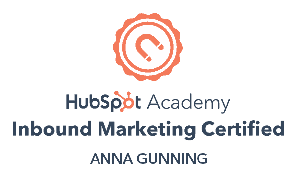 Anna Gunning HubSpot Marketing Certification